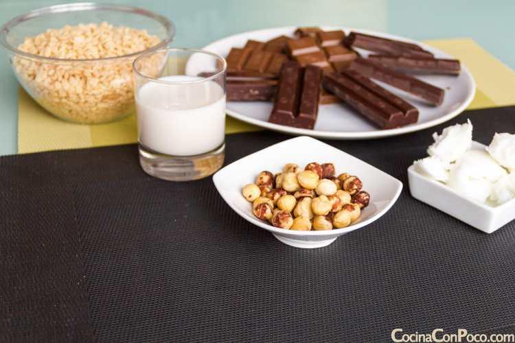 turron de chocolate crujiente receta