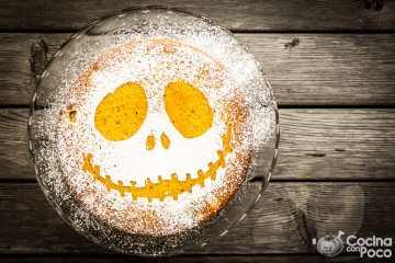 receta para halloween bizcocho macabro