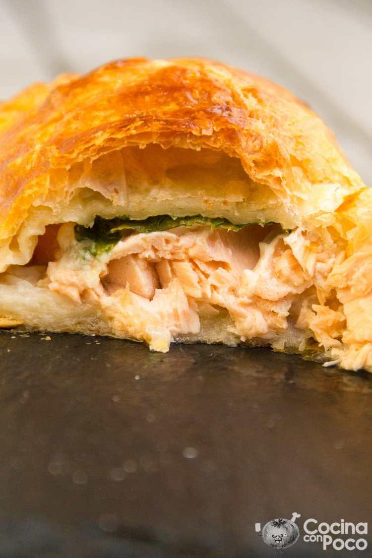 salmón wellington paso a paso hojaldre sin gluten