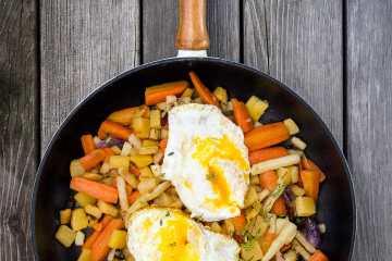 huevos rotos versión de la receta clásica de Casa Lucio