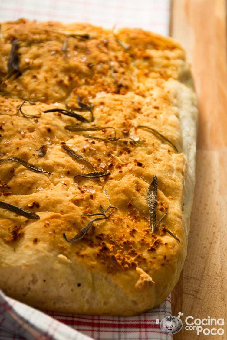 Pan tipo focaccia sin gluten