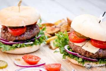 hamburguesas a la parrilla o barbacoa