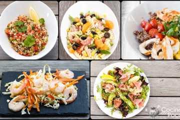 Recetas de ensaladas especiales y originales para cenar en verano