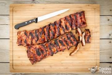 costillas de cerdo a la barbacoa - BBQ spareribs