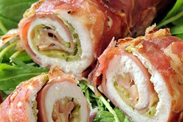 receta de pollo relleno con espinaca jamon y queso