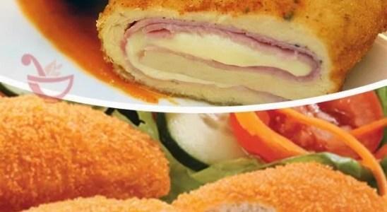 pechugas de pollo fritas rellenas con jamon y queso