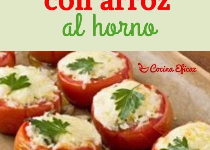 tomates rellenos con arroz al horno