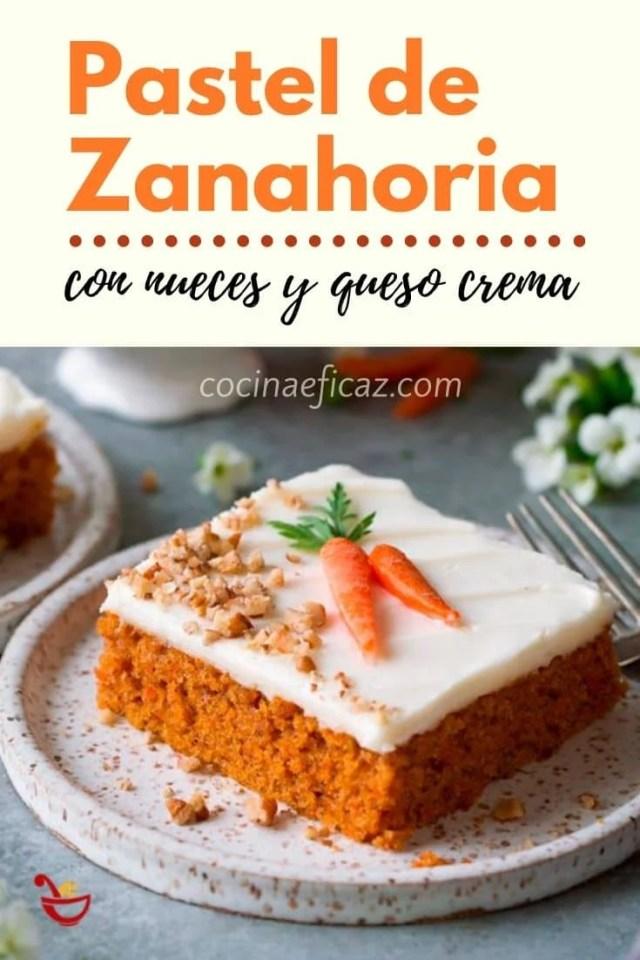 pastel de zanahoria con queso y nueces
