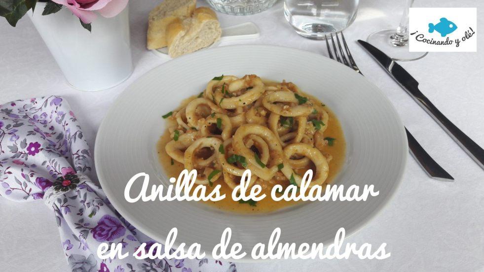 Anillas de calamar en salsa de almendras