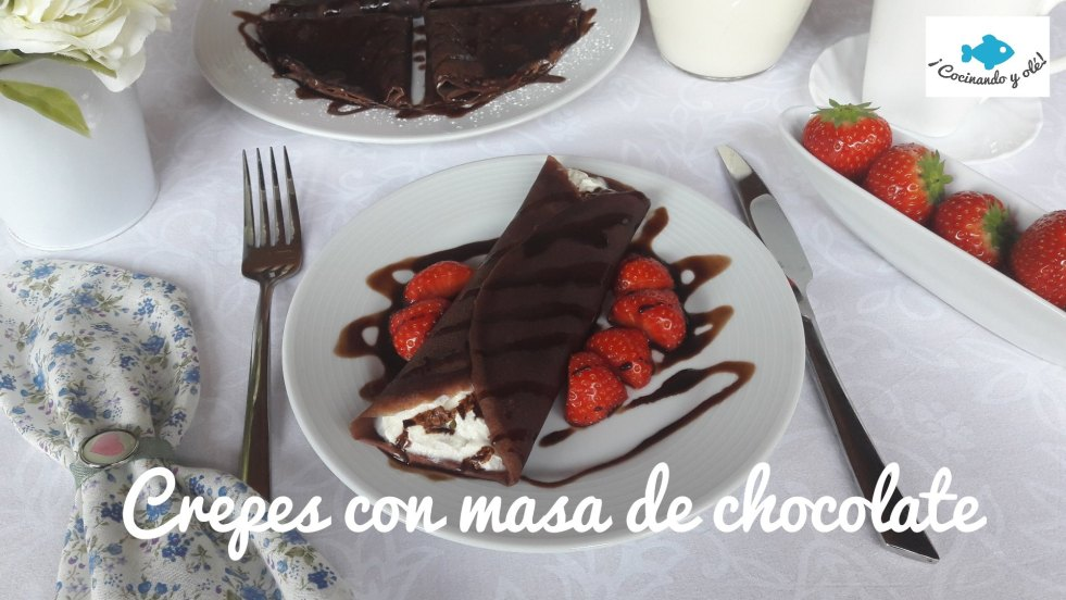 crepes con masa de chocolate