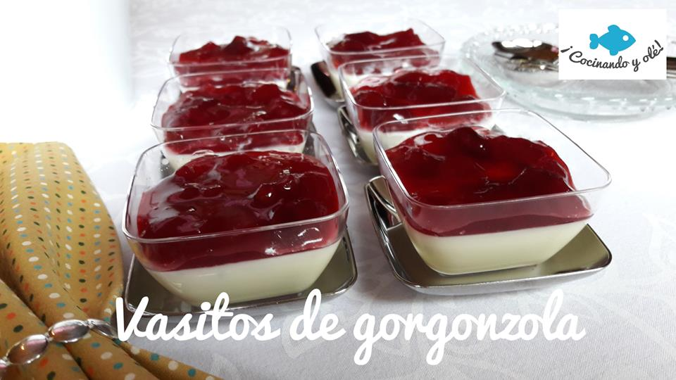 vasitos de gorgonzola