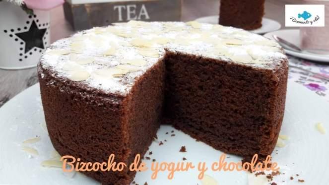 Bizcocho de yogur y chocolate