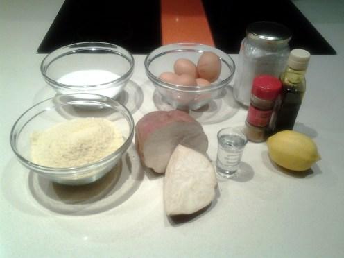 Tarta de santiago con boniato (o batata) - ingredientes