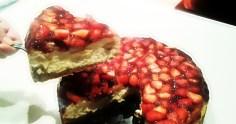 tarta de queso americana al horno corte 2