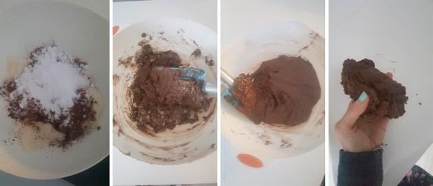 Proceso de amasado de los mantecados sin azúcar