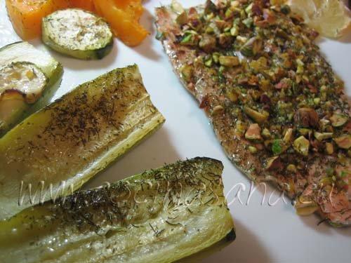 Trucha arcoíris con pistachos: qué buena!