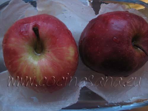Manzanas al horno con marmelada y frutos secos: lava las manzanas