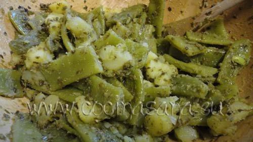 Pesto con judías verdes y patatas