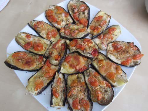Receta de Berenjenas Asadas con Tomate y Mozzarella