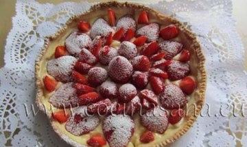 Tu tarta de fresas con crema pastelera está lista!