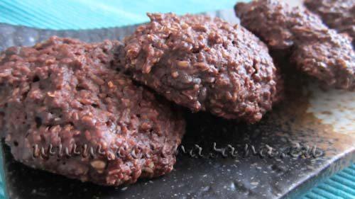 Galletas de avena al cacao