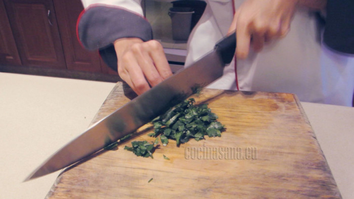 Pica el cilantro