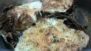Alcachofas rellenas de queso y mozzarella. Crujientes y Suaves a la vez