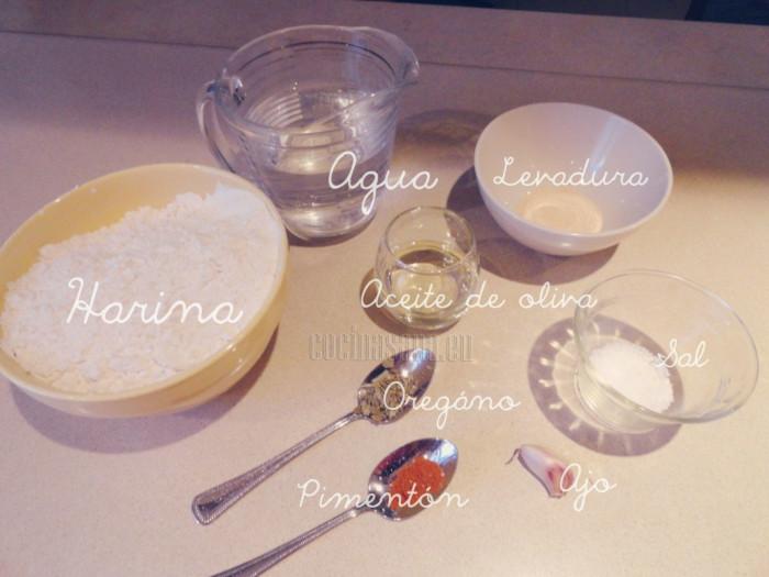 estos ingredientes necesitas para la masa