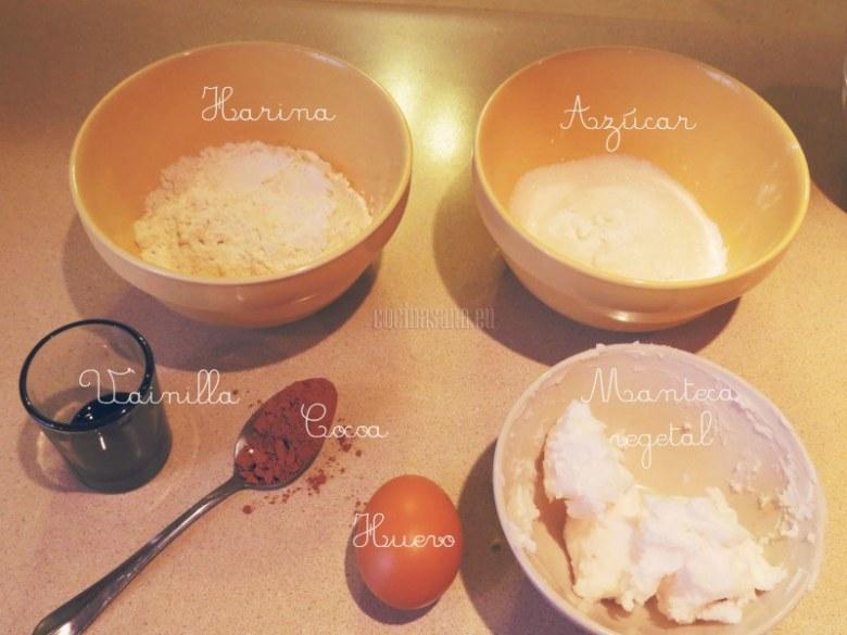Los ingredientes para la cobertura.