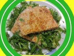 Filete de Atún rojo con Rúcula y Sésamo. Receta con fotos