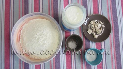 Ingredientes para hacer Pan casero con yogur