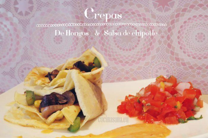 Crepas de Hongos con salsa de Chipotle y Almendras