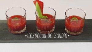 Gazpacho de Sandía : Receta y Vídeo con todos los pasos