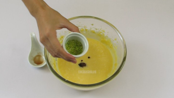 Añadir la Ralladura de Limón a la preparación