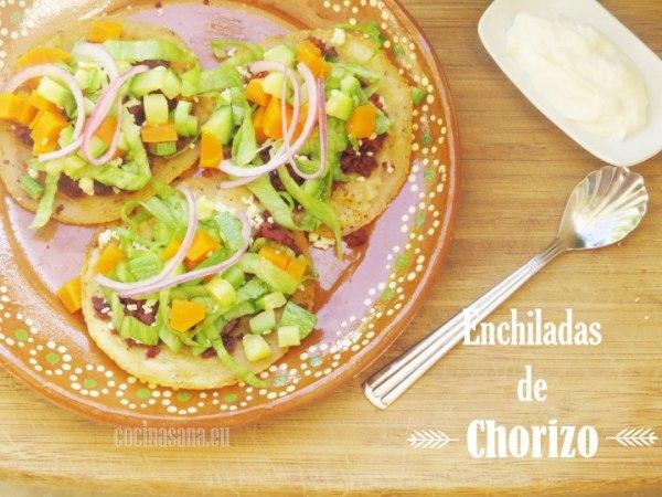 Enchiladas de Chorizo o Enchiladas del Suelo