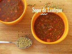 Sopa de Lentejas: una receta fácil y nutritiva