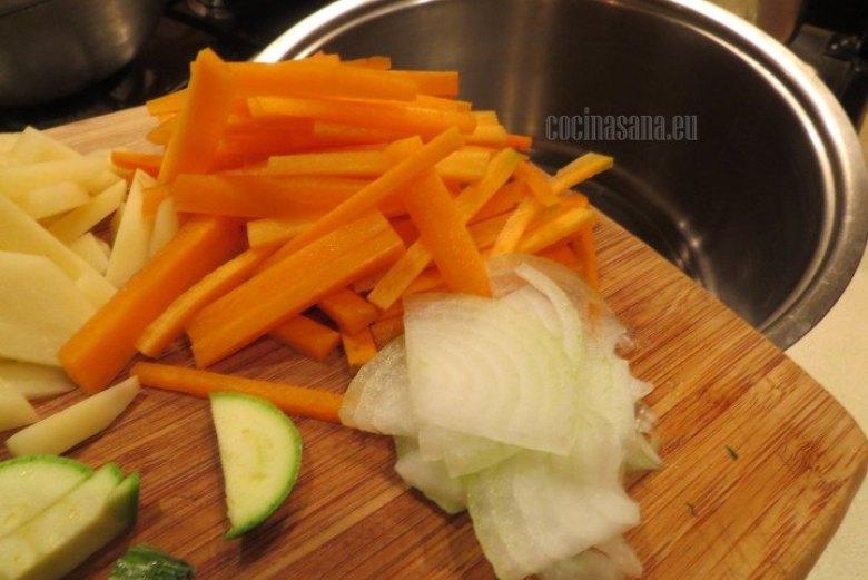 Colocar las Verduras