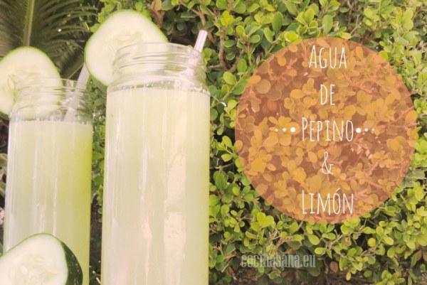 Agua de Pepino y Limón para adelgazar