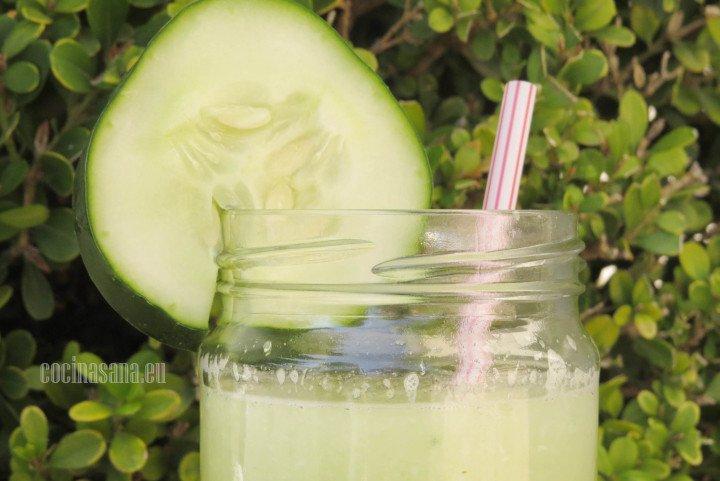 Agua fresca de pepino, deliciosa y muy fácil de hacer