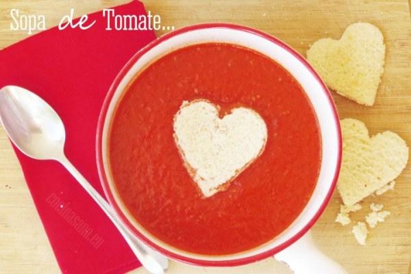 Sopa de Tomate - Día de San Valentín