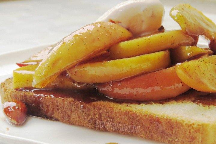 Postre de Manzanas con Pan, delicioso y simple