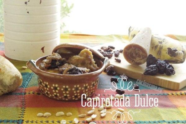 Capirotada mexicana tradicional