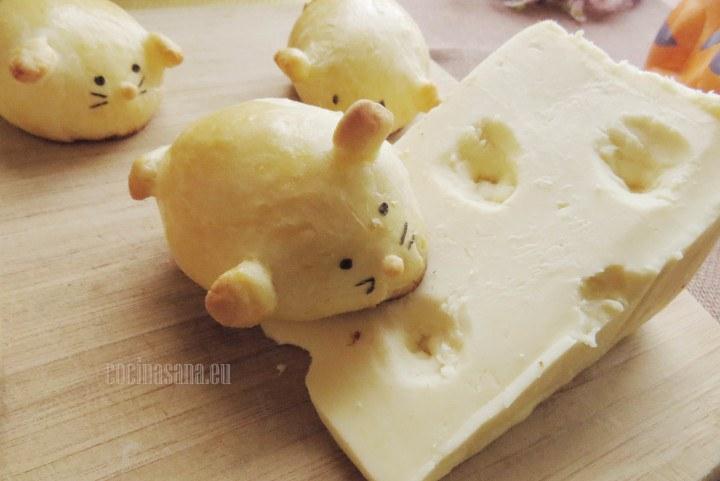 Ratoncitos rellenos de queso especiales para el día del niño