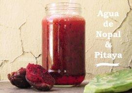Bebida de Nopal y Pitaya. Receta para desintoxicar y depurar