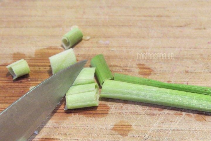 Cortar el Lemongrass