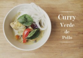 Pollo al Curry Verde. Receta de Curry Tailandés
