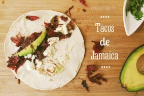 Tacos de Jamaica. Una receta original de taco mexicano