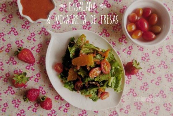 Ensalada con Vinagreta de Fresas
