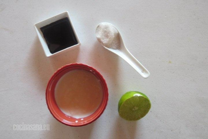 Ingredientes para el Aderezo