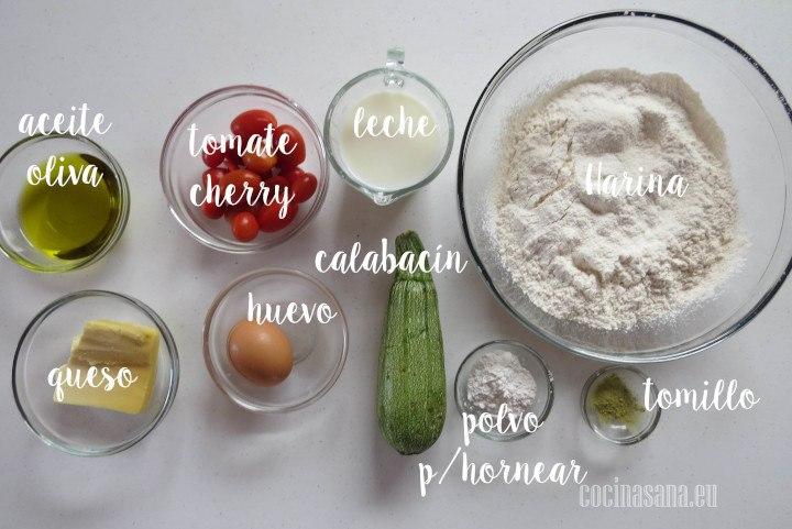 Ingredientes para el Calabacín